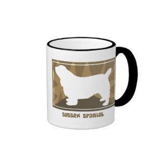 Earthy Sussex Spaniel Ringer Mug
