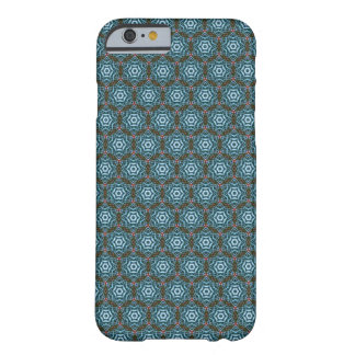 Earthy Teal Hexagon Batik Pattern iPhone 6 case Barely There iPhone 6 Case