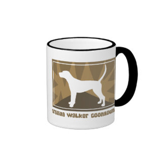 Earthy Treeing Walker Coonhound Ringer Mug