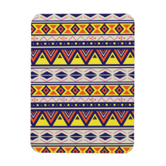Earthy Tribal Border Pattern Rectangle Magnet