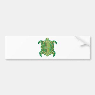Earthy-Turtle Bumper Sticker
