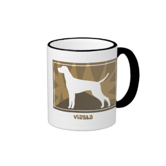Earthy Vizsla Ringer Coffee Mug