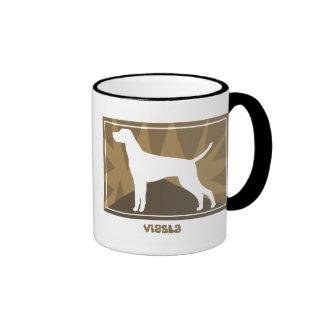 Earthy Vizsla Ringer Mug
