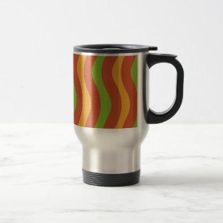 Earthy Wave Stripes Stainless Steel Travel Mug