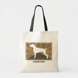 Earthy Weimaraner Tote Bag