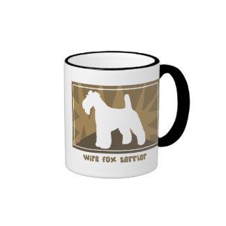 Earthy Wire Fox Terrier Ringer Mug
