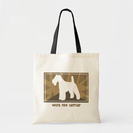 Earthy Wire Fox Terrier Tote Bag