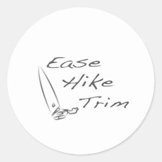 Ease Hike Trim Round Sticker