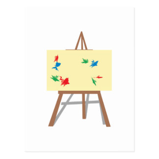 Easel and Painting Postcard