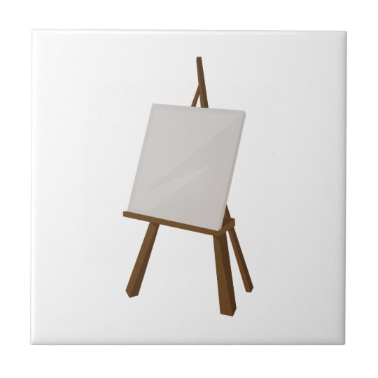 Easel Painting Small Square Tile
