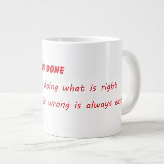Easier Said Than Done Large Coffee Mug