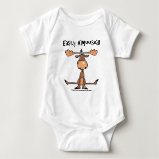 "Easily A'Moose""d Baby Bodysuit"