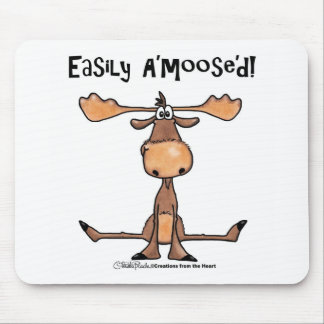 Easily Amoosed!-Sitting Moose Mouse Mat