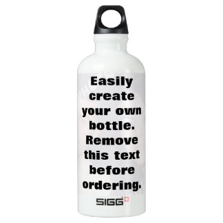 Easily create your own photo water Liberty bottle
