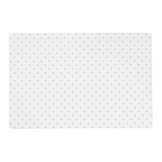 Easily Customize Color from Grey Mini Polka Dots Laminated Placemat
