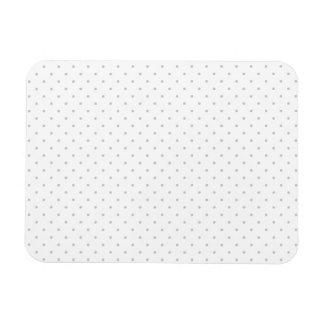 Easily Customize Color from Grey Mini Polka Dots Rectangular Photo Magnet