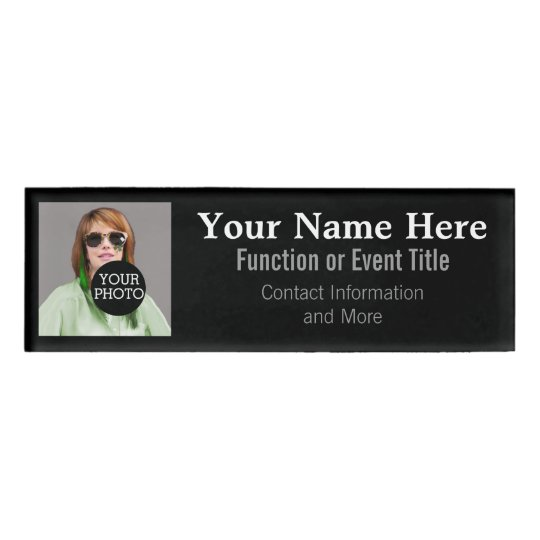 Easily Design Your Own Photo Logo name tag