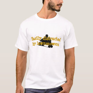 Easily Distracted Lawnmower Racing T-Shirt