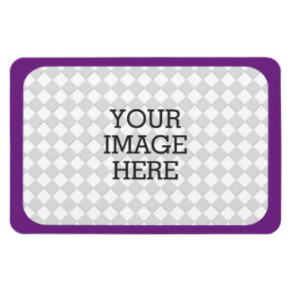 Easily Make Your Own Photo Display in Purple Mauve Vinyl Magnet