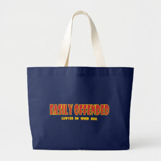 Easily offended jumbo tote bag