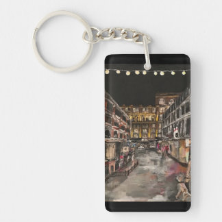 """""""East 4th Street Moment"""" Cleveland, Ohio Keychain"""