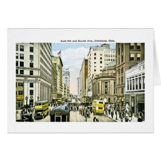 East 9th and Euclid Avenue, Cleveland, Ohio Card