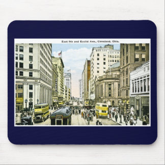East 9th and Euclid Avenue, Cleveland, Ohio Mouse Mat