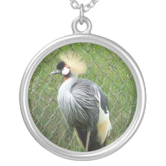East African Crown Crane Necklace