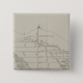 East and West Vertical Section, New Almaden Mine 15 Cm Square Badge