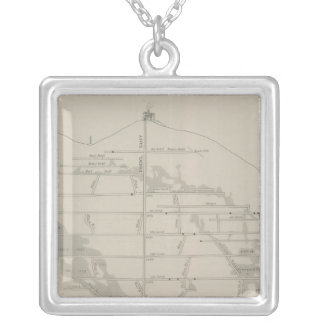 East and West Vertical Section, New Almaden Mine Silver Plated Necklace