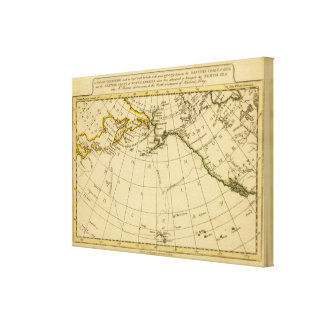 East Asia, West North America Stretched Canvas Prints