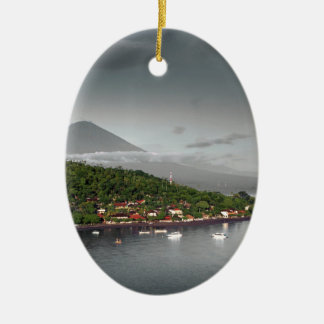 East Bali coastline and Mount Agung Christmas Ornament