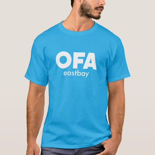 East Bay OFA logo T-shirt Blue