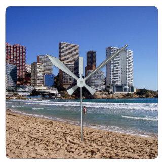East beach of Benidorm, Spain Clocks