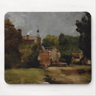 East Bergholt Church from Church Street (oil on pa Mouse Mat