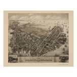 East Boston, MA Panoramic Map - 1879 Poster