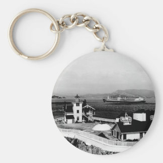 East Brother Island Lighthouse Basic Round Button Key Ring