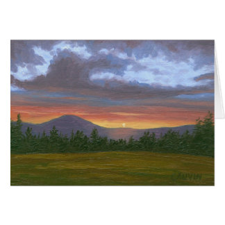 East Burke Vermont Sunset Greeting Card