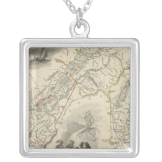 East Canada And New Brunswick Silver Plated Necklace
