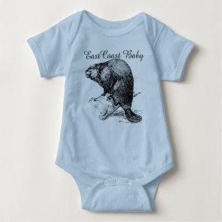 East Coast Baby beaver cool cute one piece Tees