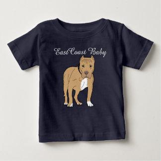 East Coast Baby cute puppy dog amstaff Baby T-Shirt