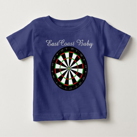 East Coast Baby dart board Baby T-Shirt