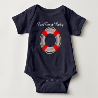 East Coast Baby Life preserver cute one piece T-shirt