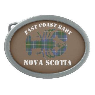 East Coast Baby Lobster tartan belt buckle brown