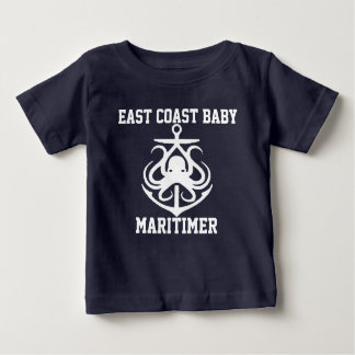 East Coast Baby Maritimer anchor octopus Baby T-Shirt