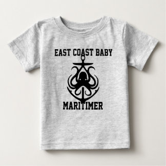 East Coast Baby Maritimer anchor octopus grey Baby T-Shirt