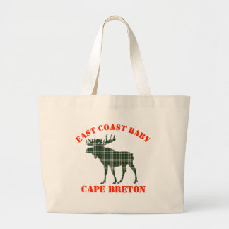 East Coast Baby moose Cape Breton tartan  tote bag