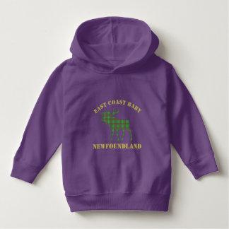 East Coast Baby moose Newfoundland  purple sweater
