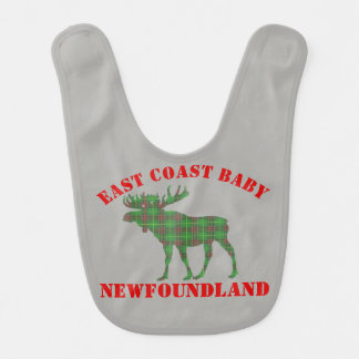 East Coast Baby moose  Newfoundland tartan  bib