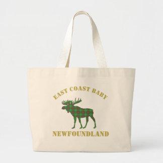 East Coast Baby moose Newfoundland tartan tote bag